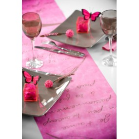 "Chemin de table ""Je t'aime"""