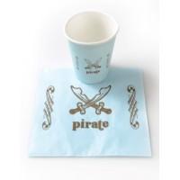 Serviette en papier pirate