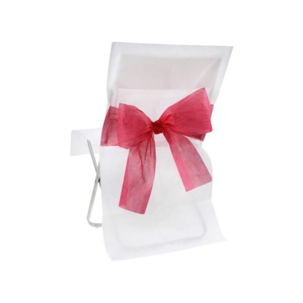 Housse de chaise bicolore avec noeud bo te drag es - Housse de chaise en papier ...
