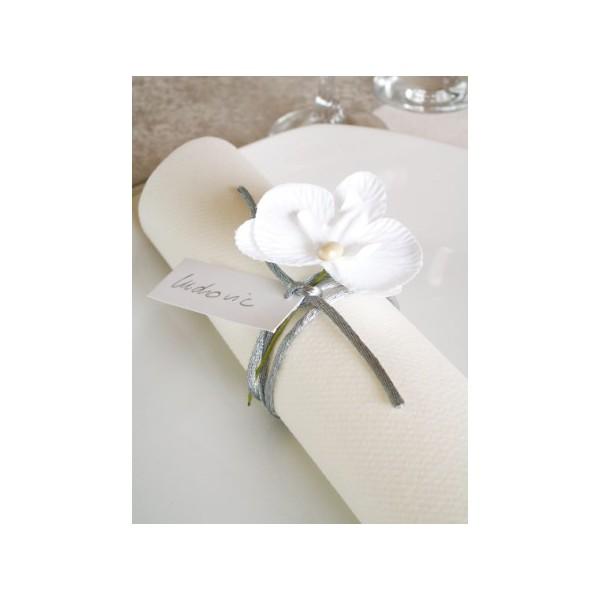 Orchid e artificielle tissu avec tige bo te drag es for Fleurs artificielles tissu