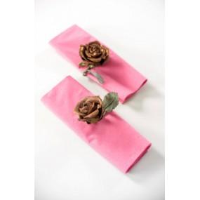 Bouquet de 5 mini roses artificielles pailletées