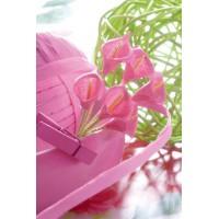 Mini Arums artificiels en bouquet