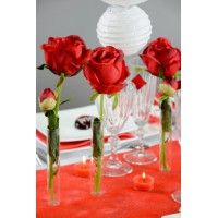 Bouton de rose en plastique