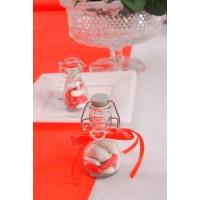 Fiole dragées transparente en verre