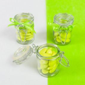 Pot à dragées transparent en verre
