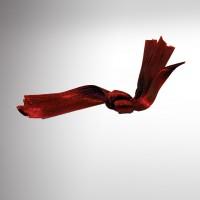 Ruban en satin rouge bordeaux