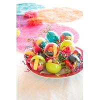 Boule dragées plastique couleur
