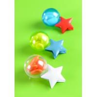 Boule dragées plastique couleur transparent 4 cm