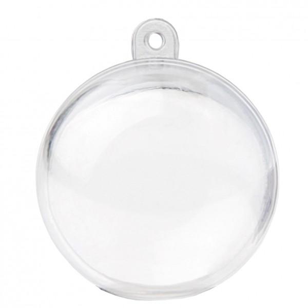Boule drag es plastique couleur transparent 4 cm - Boule transparente pas cher ...