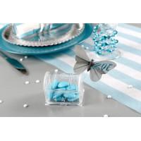 Boite dragées plastique coffre au trésor transparent