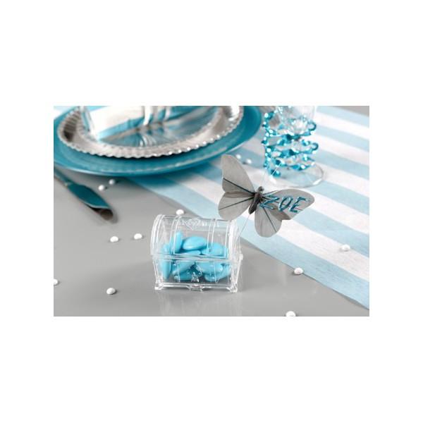 Relativ Boite dragées plastique coffre au trésor transparent NH58