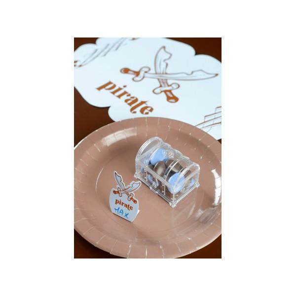 Hervorragend Boite dragées plastique coffre au trésor transparent CV36