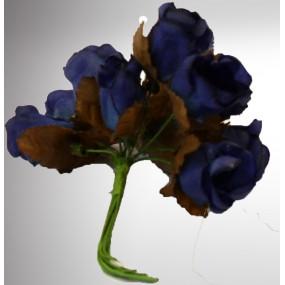 Fleur dragées bleues