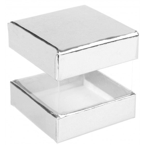 boite drag es carr e transparente en carton. Black Bedroom Furniture Sets. Home Design Ideas