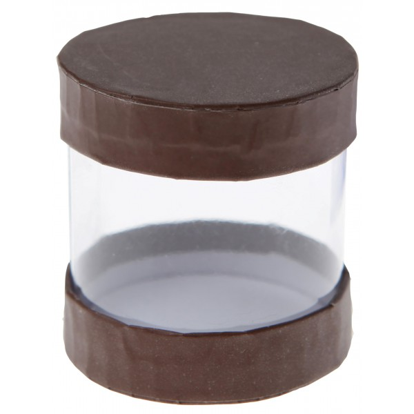 Boite drag es ronde transparente en carton - Boite en carton ronde ...