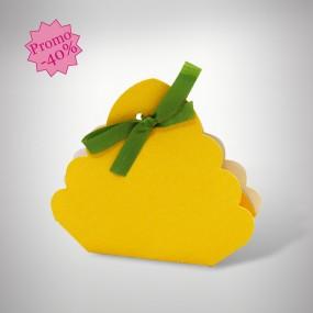 Panier dragées jaune