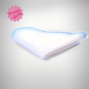 Tulle dragées rond blanc / bleu