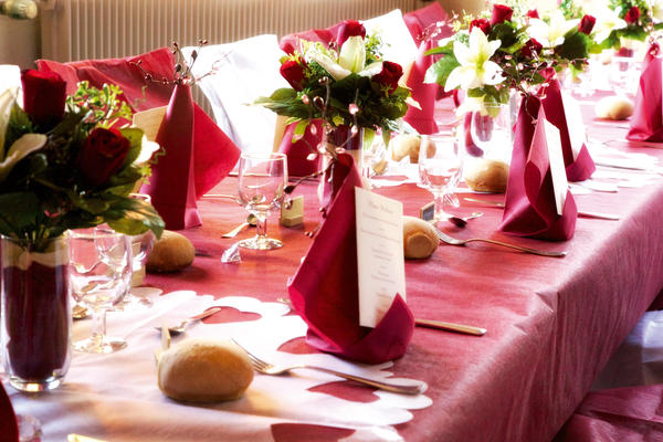 Décoration de table ou de salle mariage
